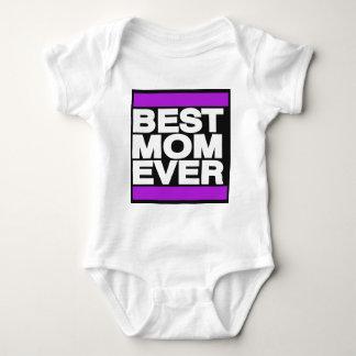 紫色最も最高のなお母さん ベビーボディスーツ