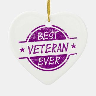 紫色最も最高のな退役軍人 セラミックオーナメント