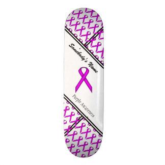紫色標準的なリボン スケートボードデッキ