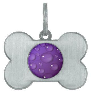 紫色水低下パターン ペットネームタグ