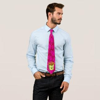 紫色漫画のフライドポテトが付いているおもしろいの人のタイ オリジナルネクタイ