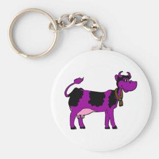 紫色牛 キーホルダー