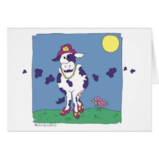 紫色牛 ノートカード