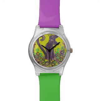 紫色猫の腕時計 腕時計