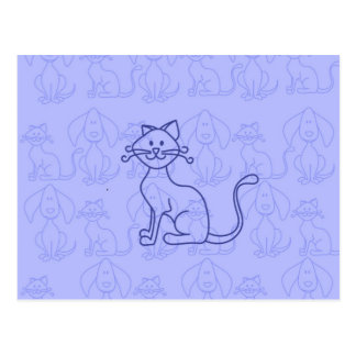 紫色猫 ポストカード