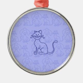 紫色猫 メタルオーナメント