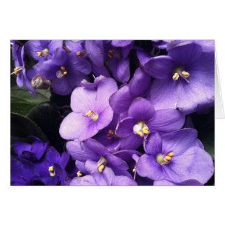 紫色私 ノートカード