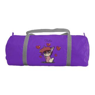 紫色粋なピンクのバニーのDuffleの体育館のバッグ ジムバッグ