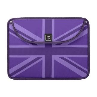 紫色色の英国国旗の旗のデザイン MacBook PROスリーブ