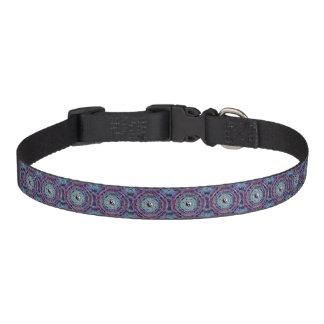 紫色色の陰陽の曼荼羅 ペット首輪
