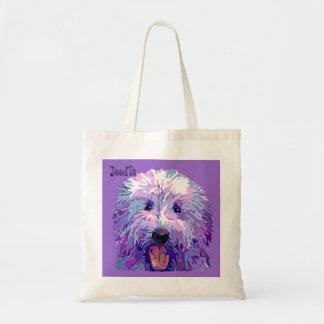 紫色色を眩ます金落書き トートバッグ