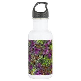 紫色花かピンクの芸術のデザイン 532ML ウォーターボトル