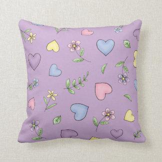 紫色花型女性歌手のバレリーナ クッション