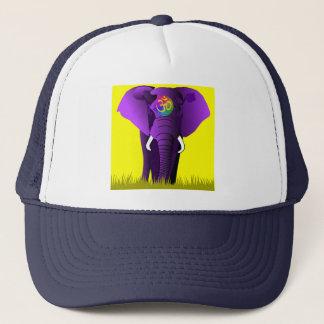 紫色象の帽子 キャップ