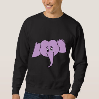 紫色象の顔。 漫画 スウェットシャツ