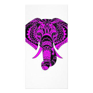 紫色象動物 カード
