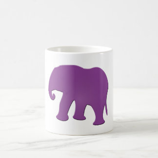 紫色象 コーヒーマグカップ