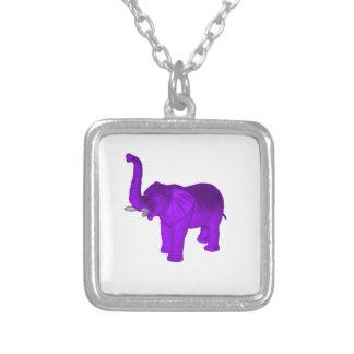 紫色象 シルバープレートネックレス