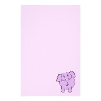 紫色象。 漫画 便箋