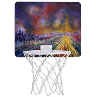 紫色道 ミニバスケットボールネット