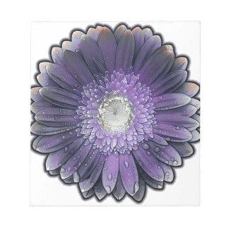 紫色雨ガーベラ ノートパッド