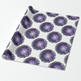 紫色雨ガーベラ ラッピングペーパー