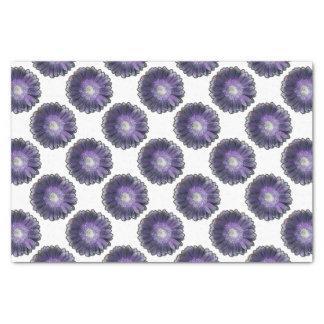 紫色雨ガーベラ 薄葉紙