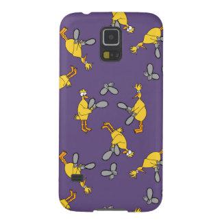 紫色鶏およびチェーンソー GALAXY S5 ケース