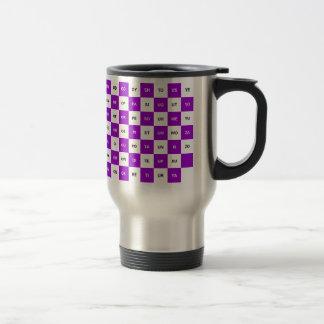 紫色2文字の単語および白いIntrl。 版 トラベルマグ