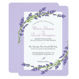 紫色|の結婚式招待状でかわいらしい カード