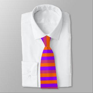 紫色、オレンジおよびピンクのストライプ オリジナルネクタイ