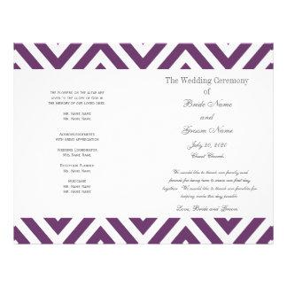 紫色|シェブロン|パターン|現代的|結婚|プログラム