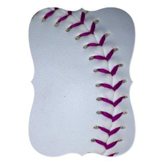 紫色|ステッチ|野球|/|ソフトボール 招待状