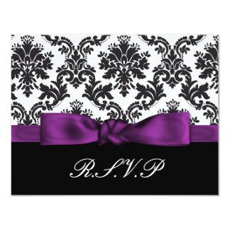 紫色|ダマスク織|rsvp 10.8 x 14 インビテーションカード