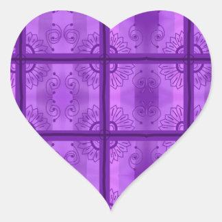 紫色! ハートシール
