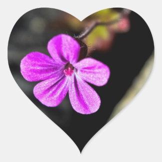 紫色 ハートシール