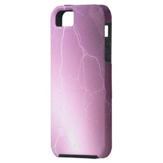 紫色-ピンクの照明 iPhone SE/5/5s ケース