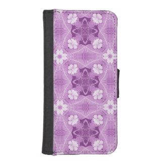 紫色、ラベンダーのアフリカの種族パターン iPhoneSE/5/5sウォレットケース