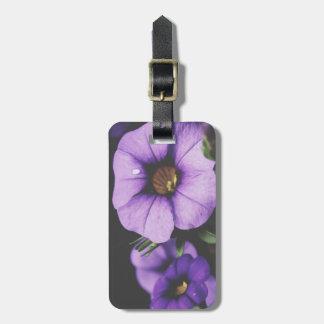 紫色、ラベンダーのペチュニアの花の花 ラゲッジタグ