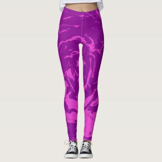 紫色 レギンス
