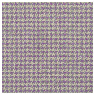 紫色、千鳥格子のなプラム紫色 ファブリック