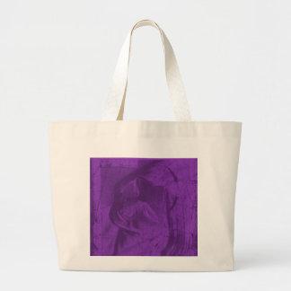 紫色 反射 キャンバスカバン
