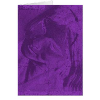 紫色|反射 グリーティングカード