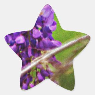 紫色 星シール