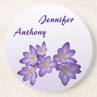 紫色|春|花柄|結婚|コースター ドリンク用コースター