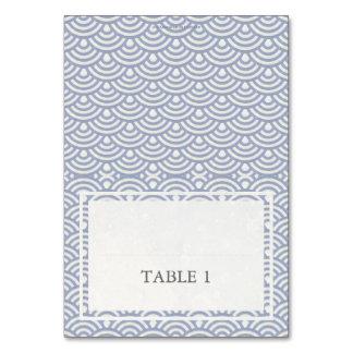 紫色+白い結婚式の波パターン地名カード カード