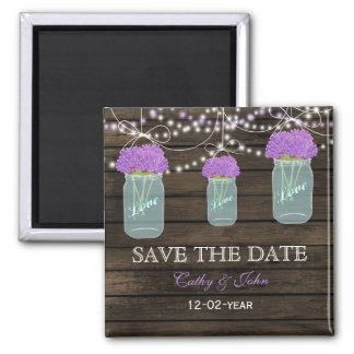 紫色|花|石大工|瓶|救って下さい|日付 冷蔵庫用マグネット