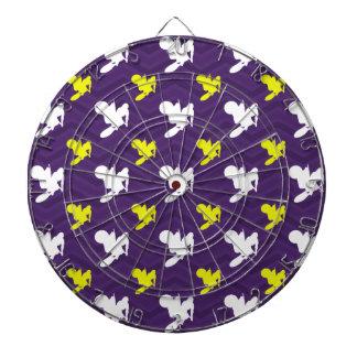 紫色、金黄色、白、モトクロスシェブロン ダーツボード