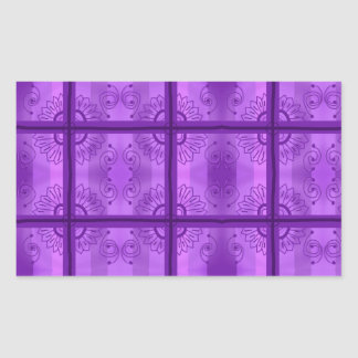 紫色! 長方形シール