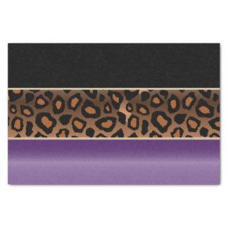 紫色、黒およびジャガーのプリント 薄葉紙